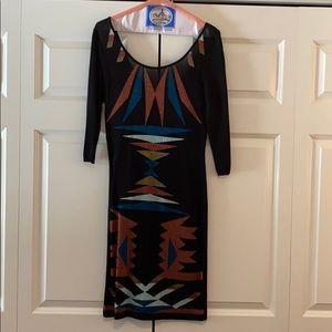 Black Aztec Knit Cocktail Dress from Bar III